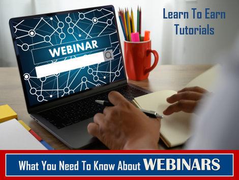Free Webinar Tutorials: Free Learn To Earn PDFs