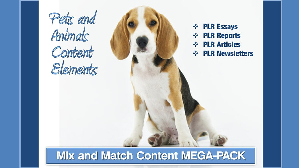 Pets and Animals Mix and Match CONTENT Collection