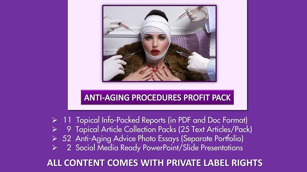 Anti-Aging Procedures Private Label Profit Pack