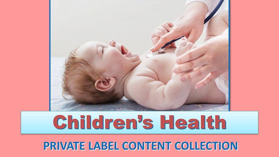 Children's Health PLR Product Pack