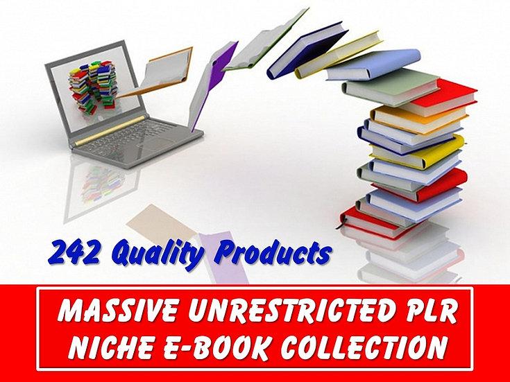 Massive UNRESTRICTED PLR Niche eBook Collection