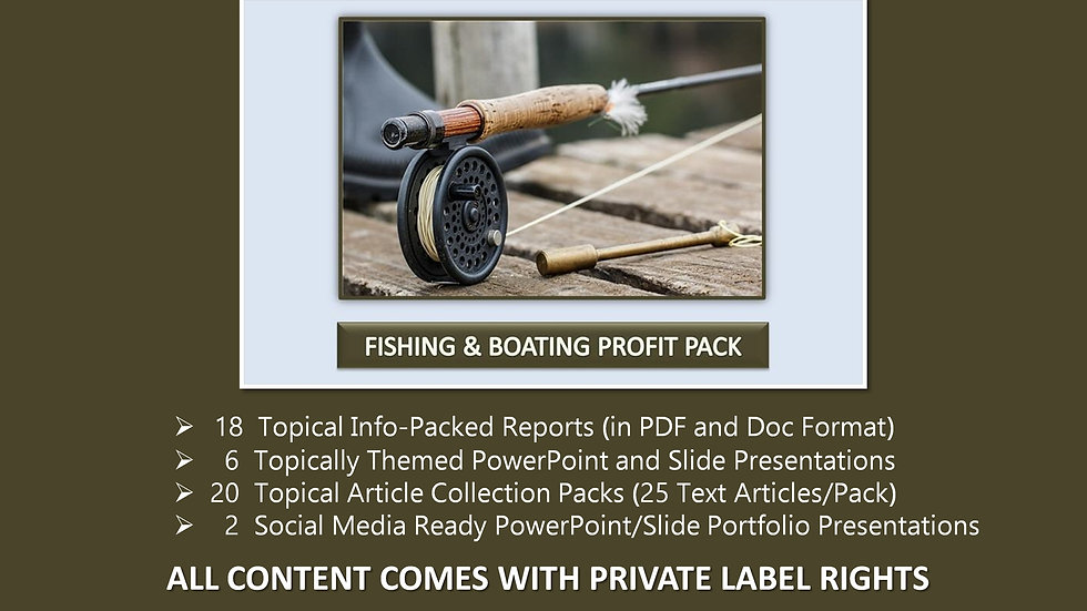 Fishing and Boating Private Label Profit Pack