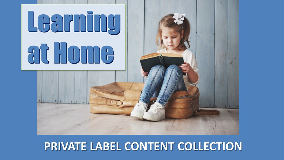 Learning At Home PLR Product Pack