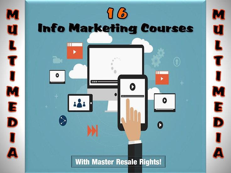 16 Multi-Media InfoMarketing Courses