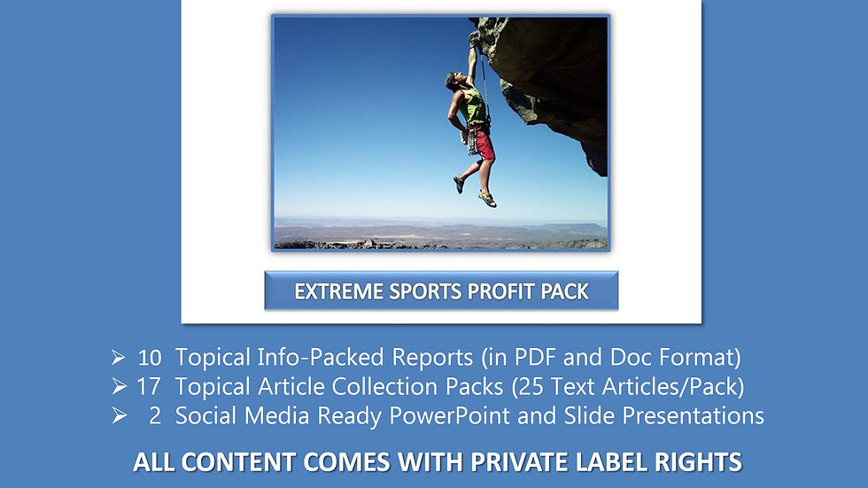 Extreme Sports Private Label Profit Pack