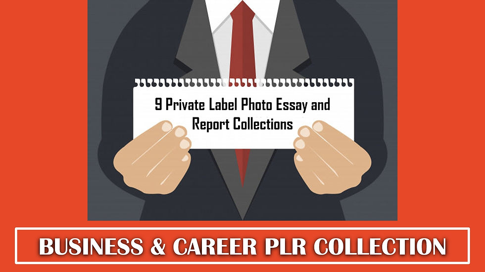 9 Business and Career PLR Photo Essay and Report Collections