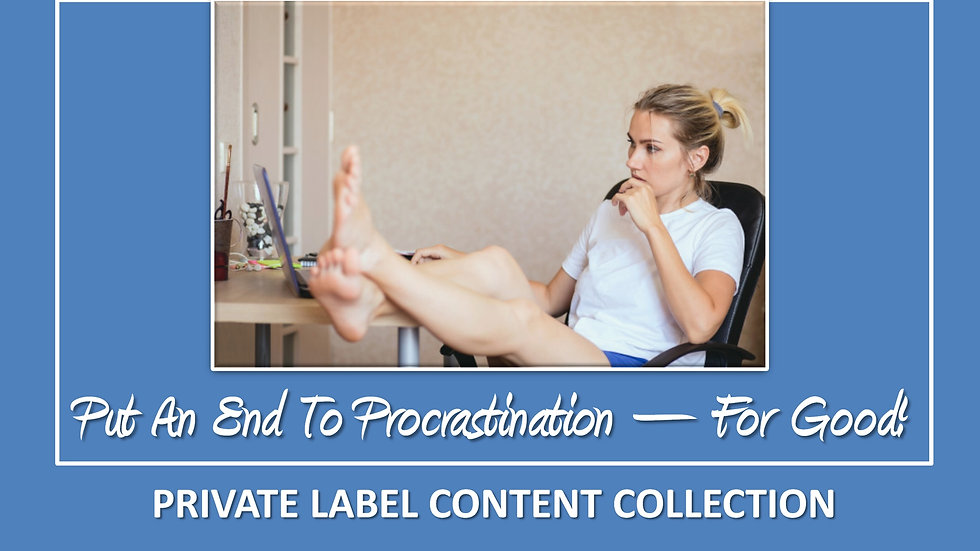 Put An End To Procrastination Once And For All PLR Pack