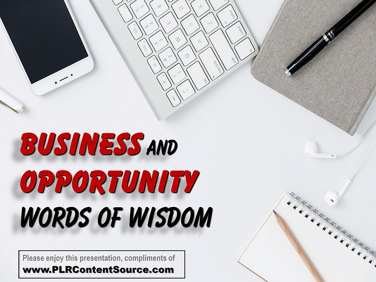 Business and Opportunity Words of Wisdom Video Quote Collection