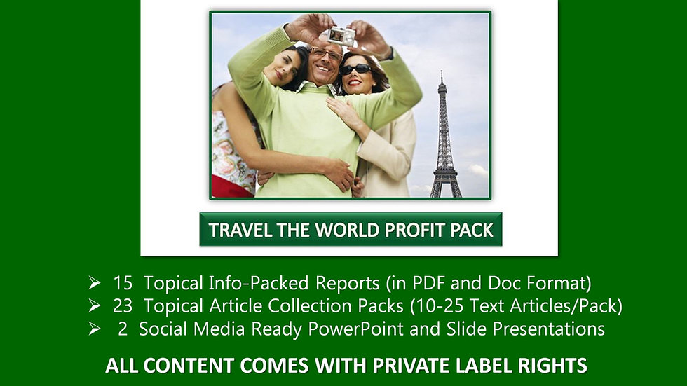 Travel The World Private Label Profit Pack