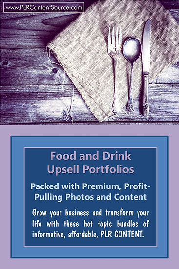 Food and Drink Upsell Content Collection