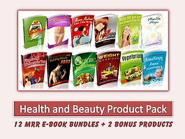Health and Beauty MRR Product Bundle