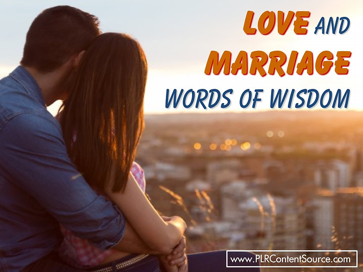Love and Marriage Words of Wisdom Video Quote Collection