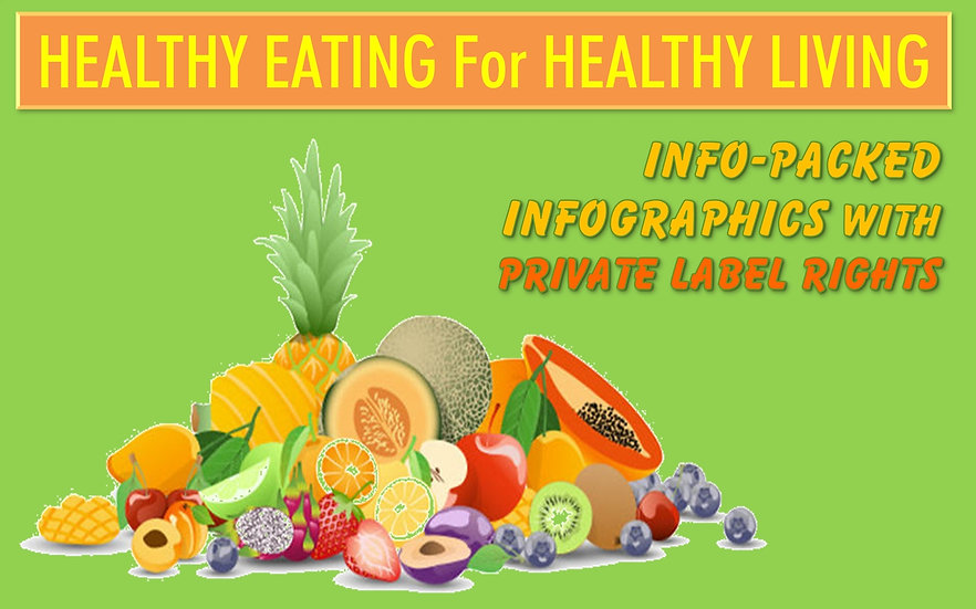 Healthy Eating For Healthy Living Infographics