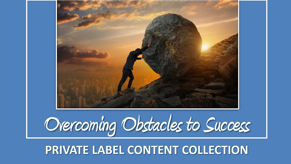 Overcoming Obstacles To Success PLR Pack