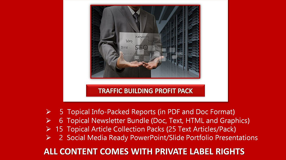 Traffic Building Private Label Profit Pack