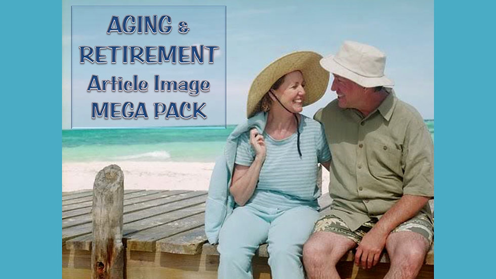 Aging and Retirement PLR Article and Image MEGA Pack