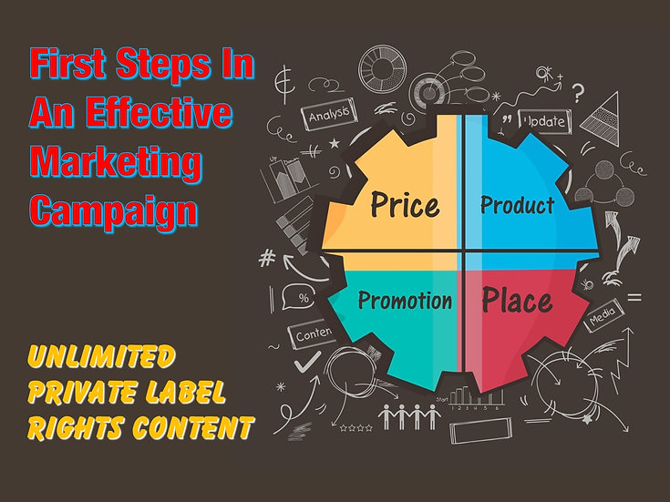 First Steps In An Effective Marketing Campaign Unlimited PLR Pack
