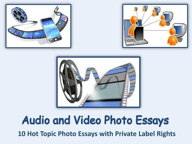 8 PLR Audio and Video Photo Essays