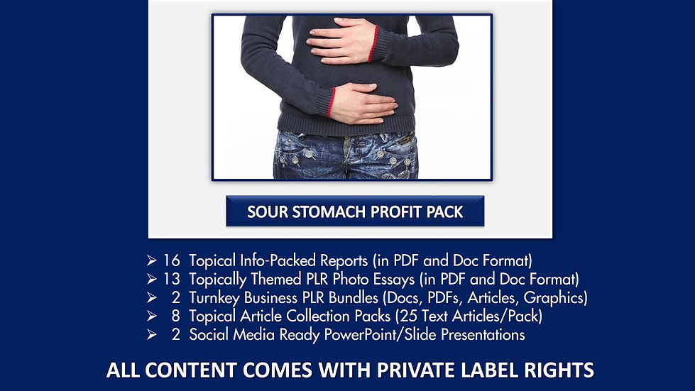 Sour Stomach Private Label Profit Pack