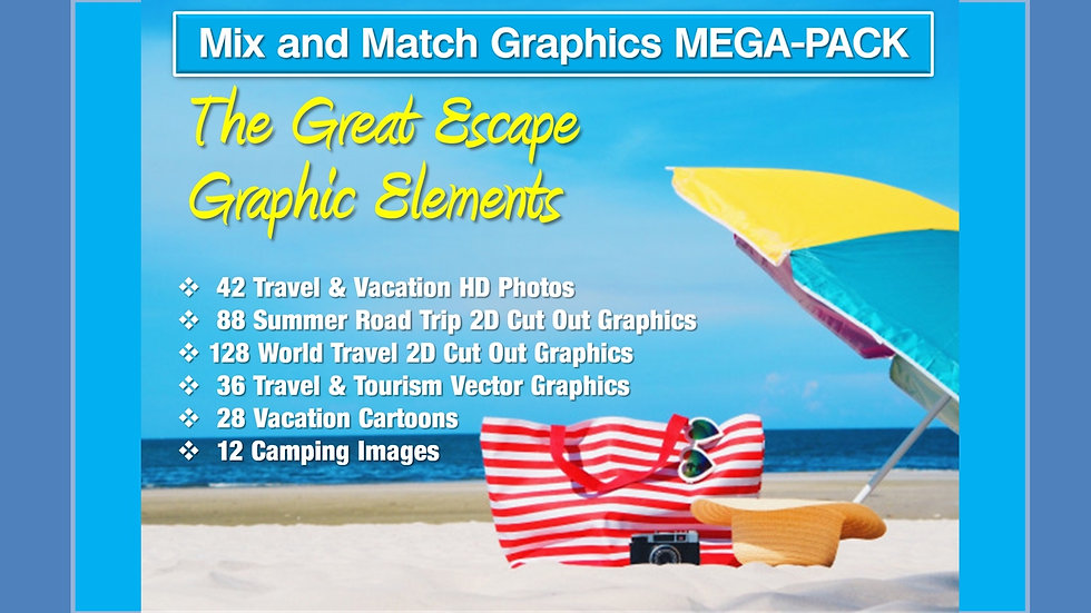 Travel and Vacation Mix and Match GRAPHICS Collection