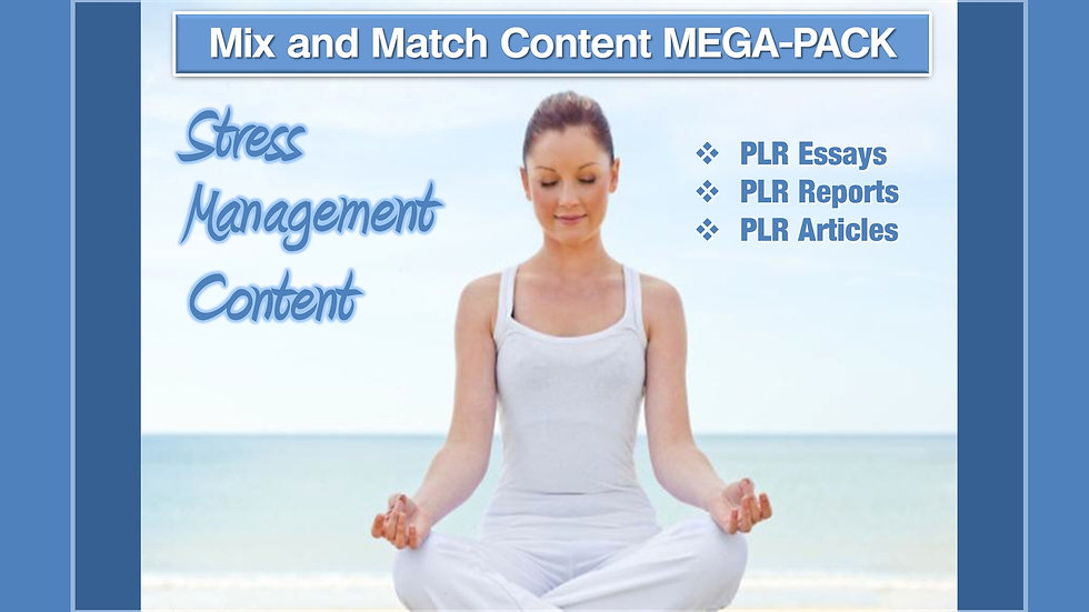 Stress Management Mix and Match CONTENT Collection