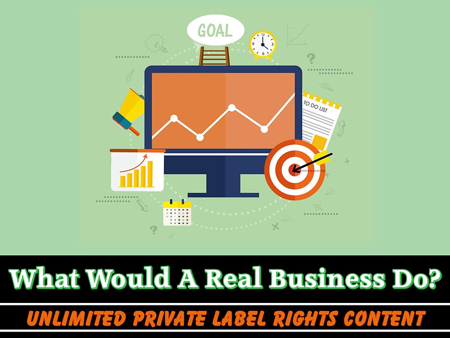 What Would A Real Business Do?