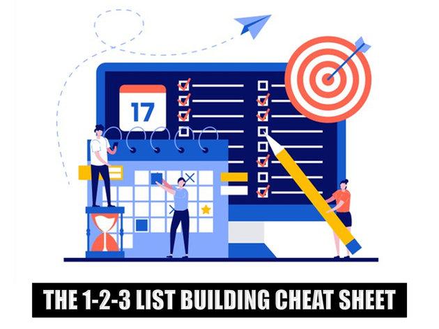 123 List Building Cheat Sheet
