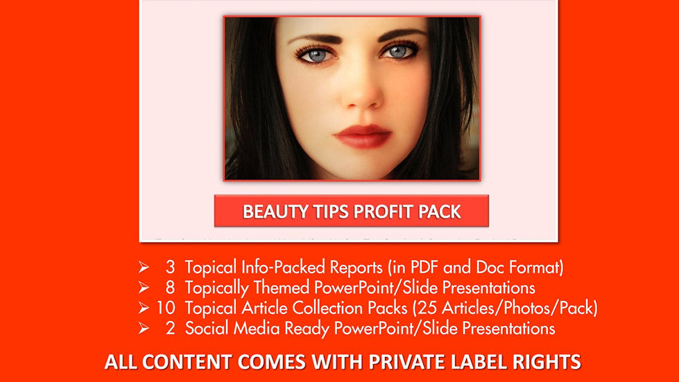 Basic Beauty Tips Private Label Profit Pack
