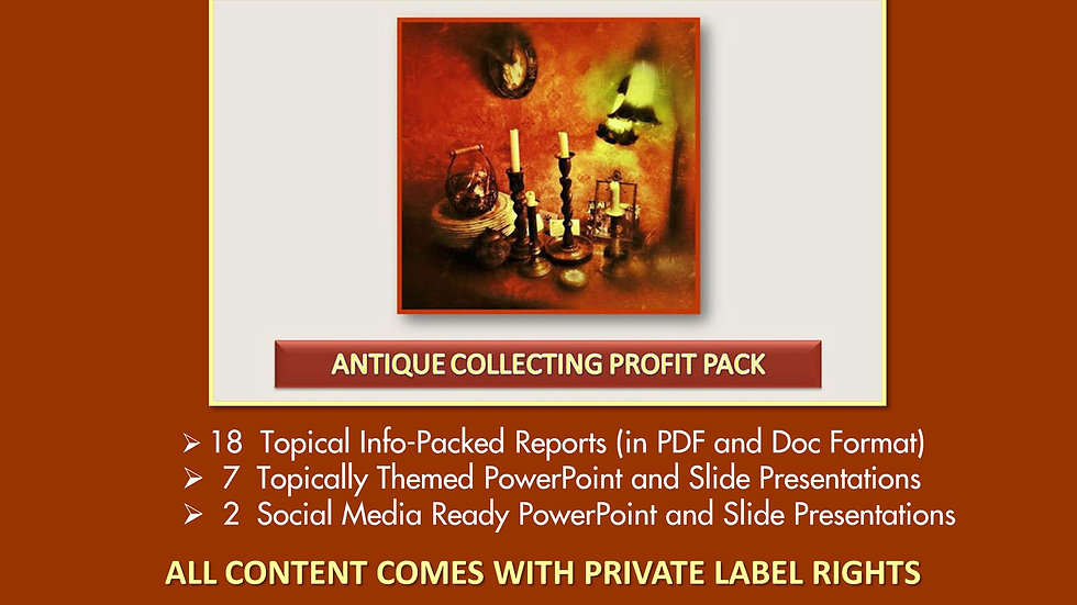 Antique Collecting Private Label Profit Pack