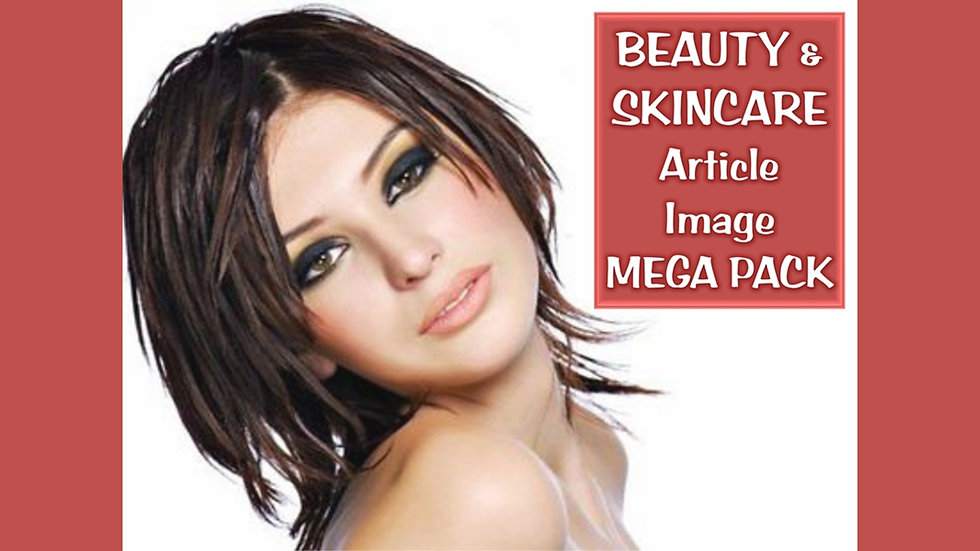 Beauty and Skincare PLR Article and Image MEGA Pack