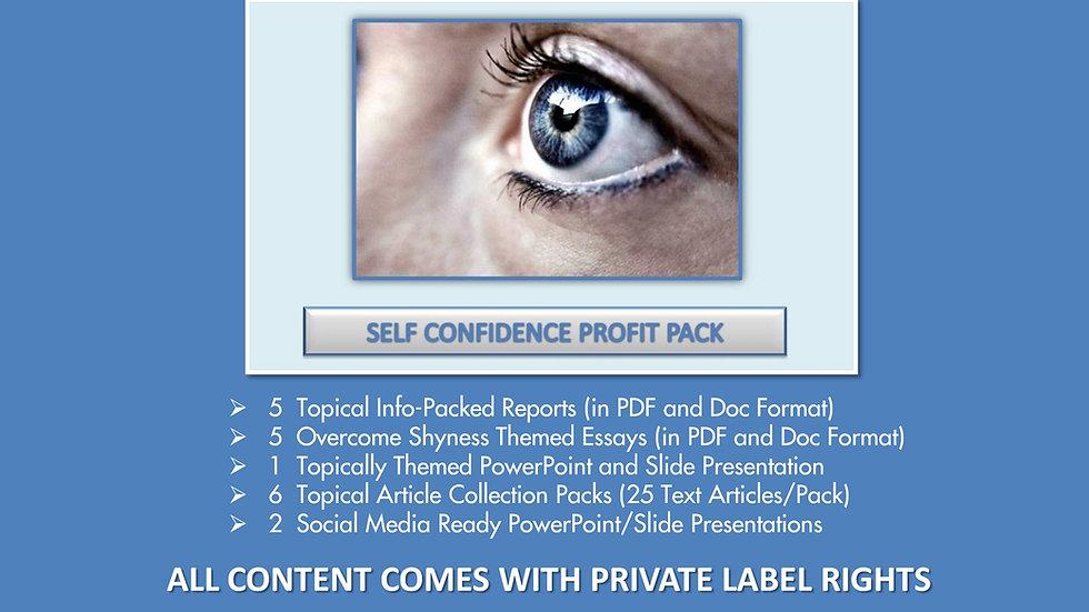 Self Confidence Private Label Profit Pack