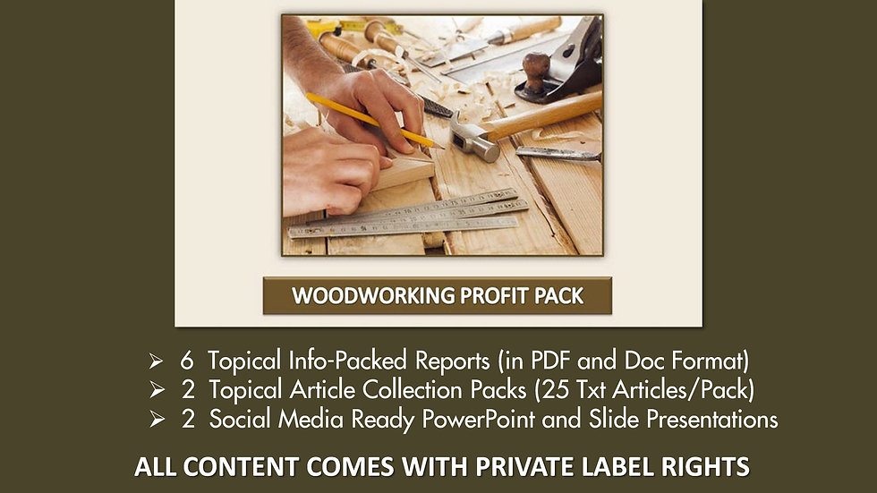 Woodworking Private Label Profit Pack