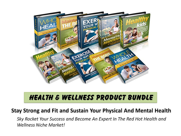 Health and Wellness MRR Product Bundle