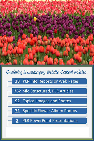 Gardening and Landscaping Turnkey Content Sites