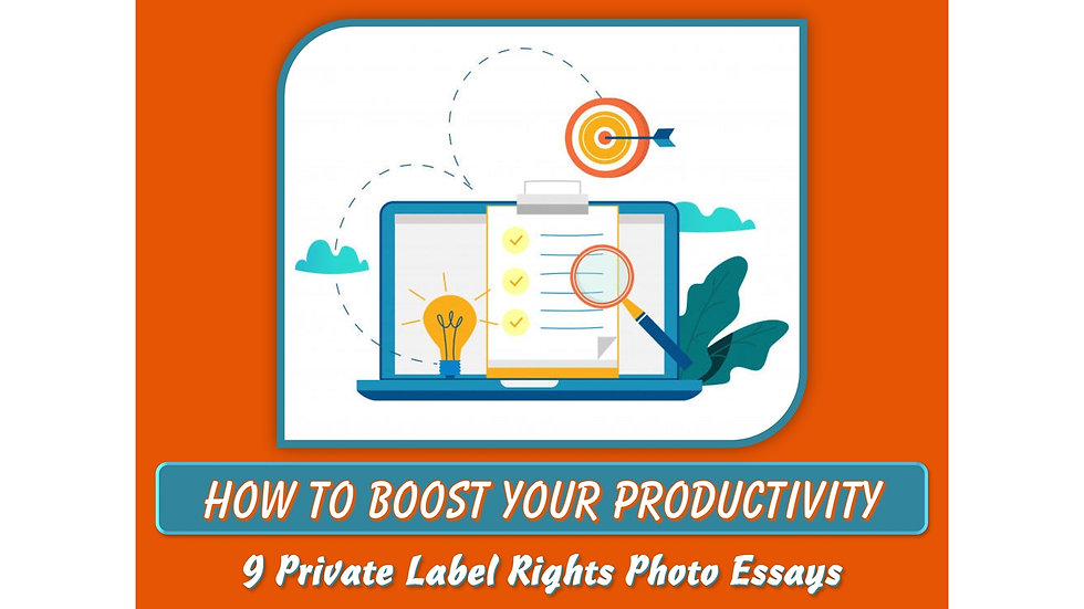 How to Boost Your Productivity Private Label Content Pack