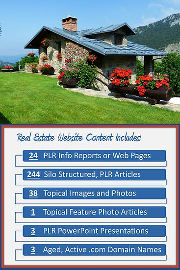 Real Estate Turnkey Content Sites