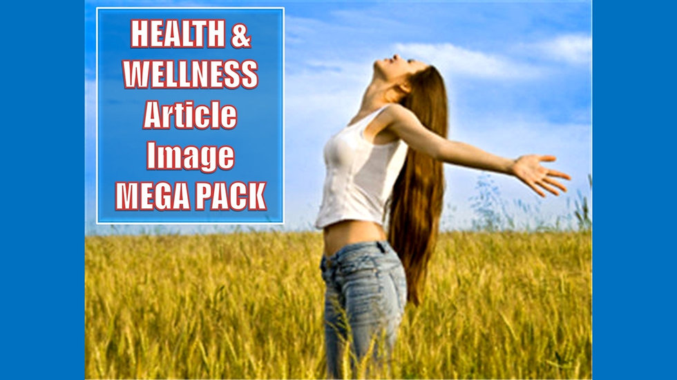 Health and Wellness PLR Article and Image MEGA Pack