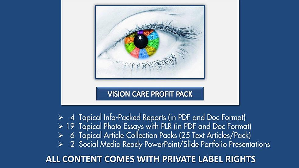 Vision Care Private Label Profit Pack