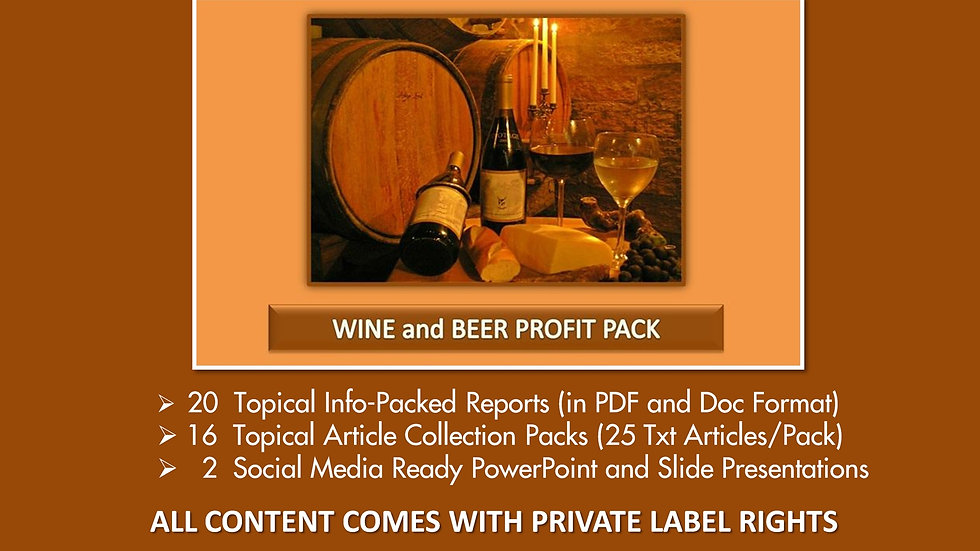 Wine and Beer Private Label Profit Pack