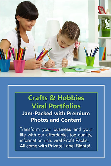 Crafts and Hobbies Niche Domination Pack