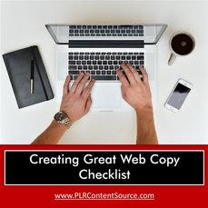 CREATING GREAT WEB COPY CHECKLIST