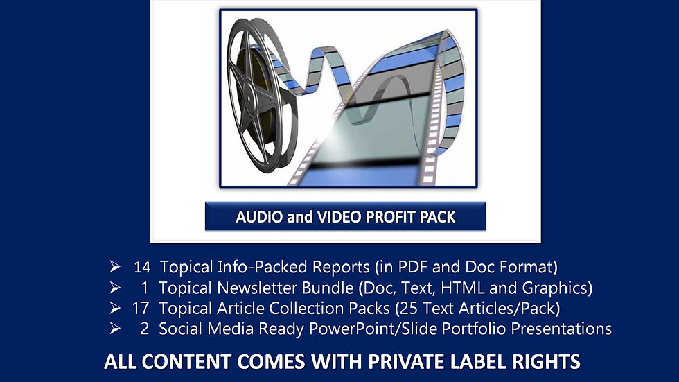 Audio and Video Private Label Profit Pack