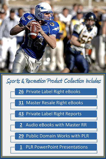 Sports and Recreation Product Profit Packs