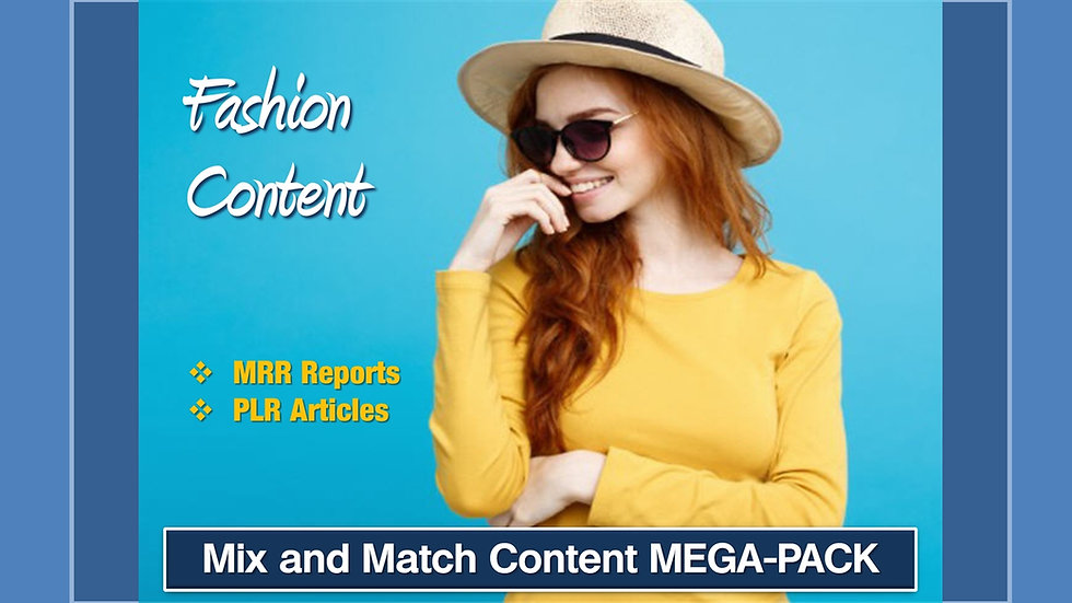 Fashion Mix and Match CONTENT Collection