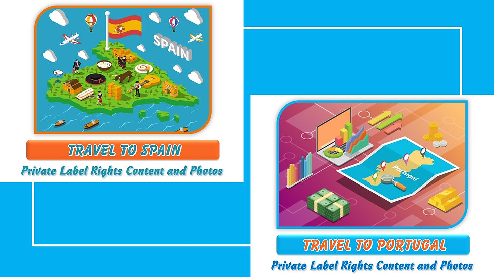 Travel to Spain and Portugal Private Label Photo Essay Packs