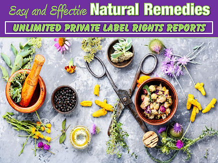 Natural Remedies Private Label Rights