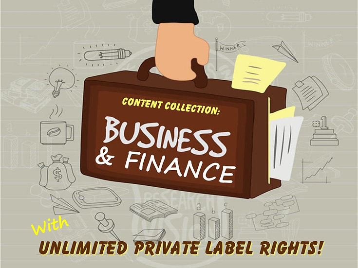 Business and Finance Content Collection with Unrestricted PLR