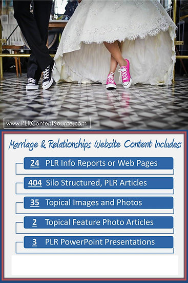 Relationships and Marriage Turnkey Content Sites