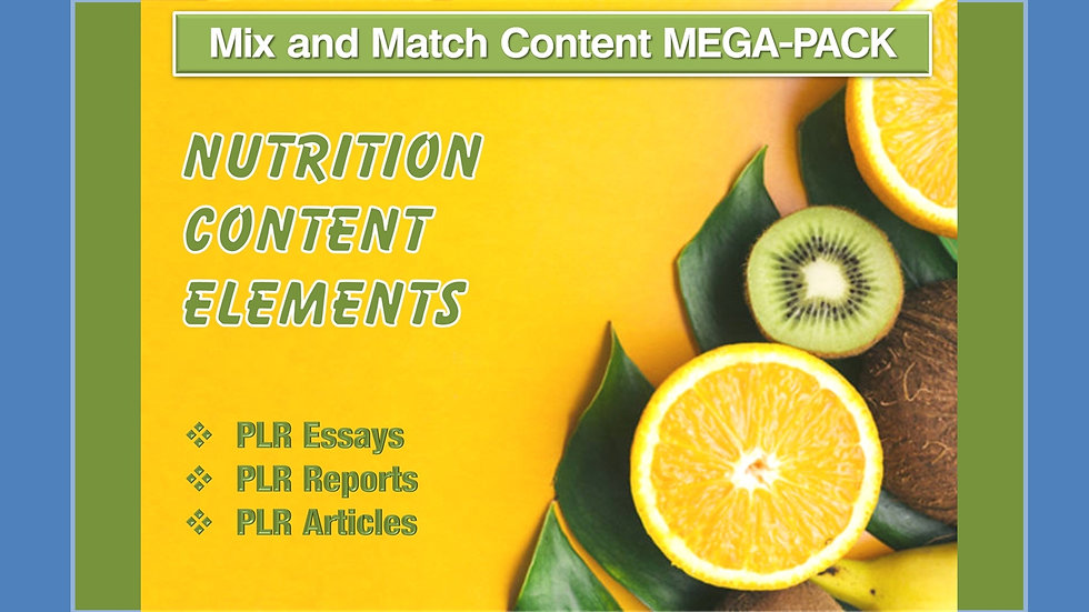 Nutrition Mix and Match CONTENT Collection