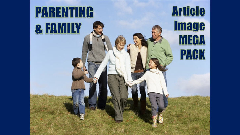 Parenting and Family Article and Image MEGA Pack